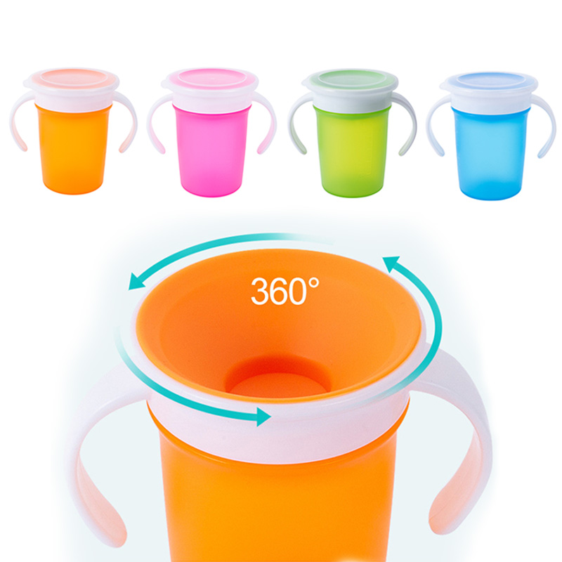 Learning-Drinking-Cup Bottle Water-Cups Infants Bpa-Free Baby Leakproof with 360-Degrees