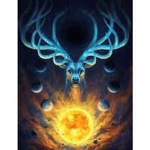 DIY Diamond Painting Fantasy Animal Deer Full Round Embroidery Cross Stitch Wall Decor