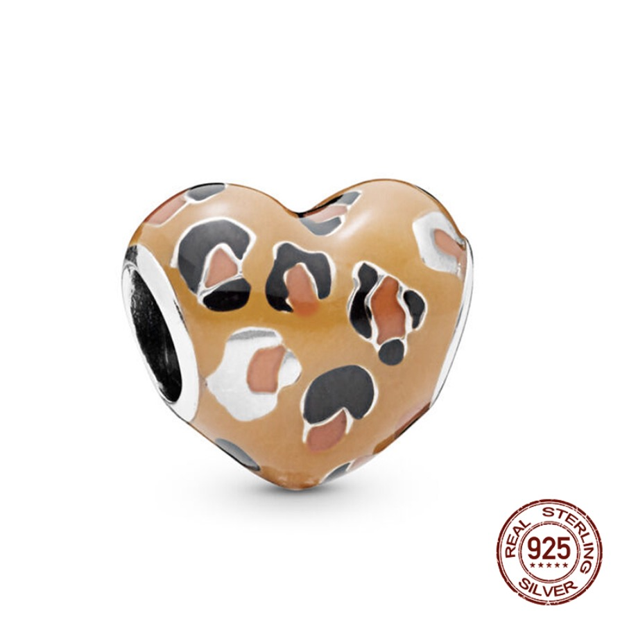 100 925 Sterling Silver Beads Spotted Heart Charms Beads for Jewelry Making fit Original Pandora Bracelets Women DIY Jewelry in Beads from Jewelry Accessories