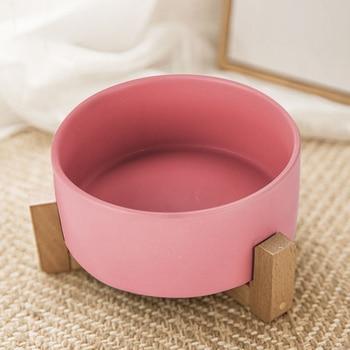 Ceramic Cat Bowl Food Bowl Rice Bowl Protection Cervical Vertebra Cat Double Bowl Dog Water Bowl Food Dog Bowl Pet Bowl DD60WS фото