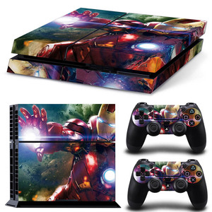Image 1 - Ps 4 Pro Marvel Skin Sticker Decal Vinyl Voor Sony Playstation 4 Pro Console En 2 Controllers Voor Ps4 Pro slim Stickers Ps4pro