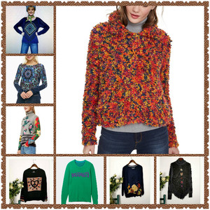 Spanish style Deg family new printed knitted sweater in autumn and winter of 2019 (2) M