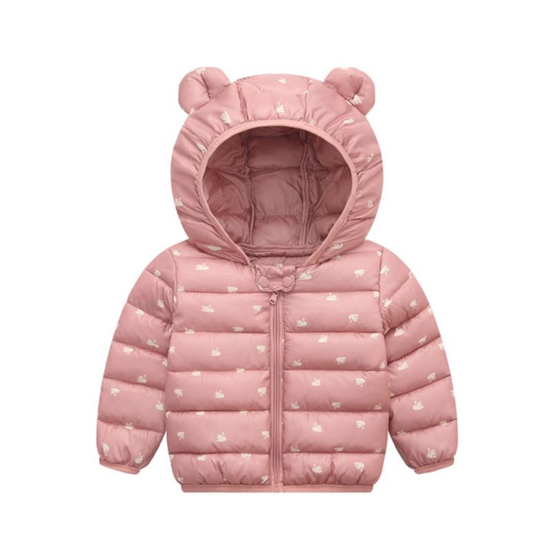 Baby Girls Hooded Down Jackets For Kids Coats Autumn Boys Cartoon Warm Jacket Coat Jacket Toddler Girl Zipper Jacket Outerwear 1