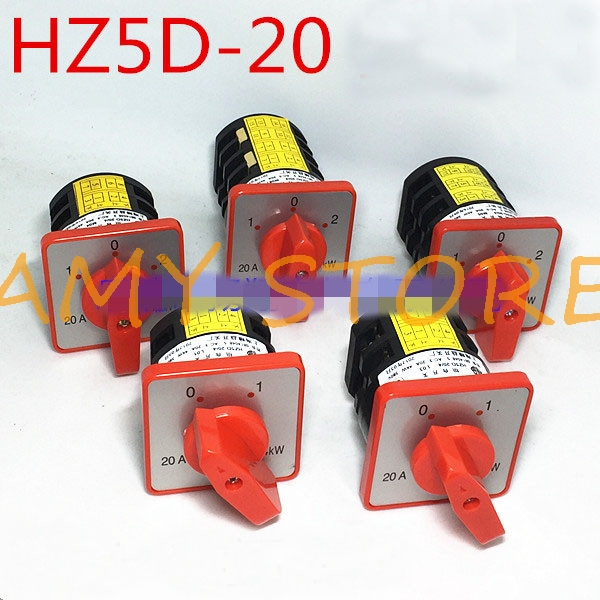 Universal Cam Changeover Switch HZ5D-20//4 M05-B 4kW AC 380V 20A 3 Position