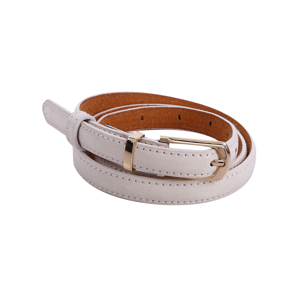 Jaycosin Womens Middle Wide Imitation Leather Waist Belt Lady Ring Casual Popular Casual Thin Leisure Leather Belt