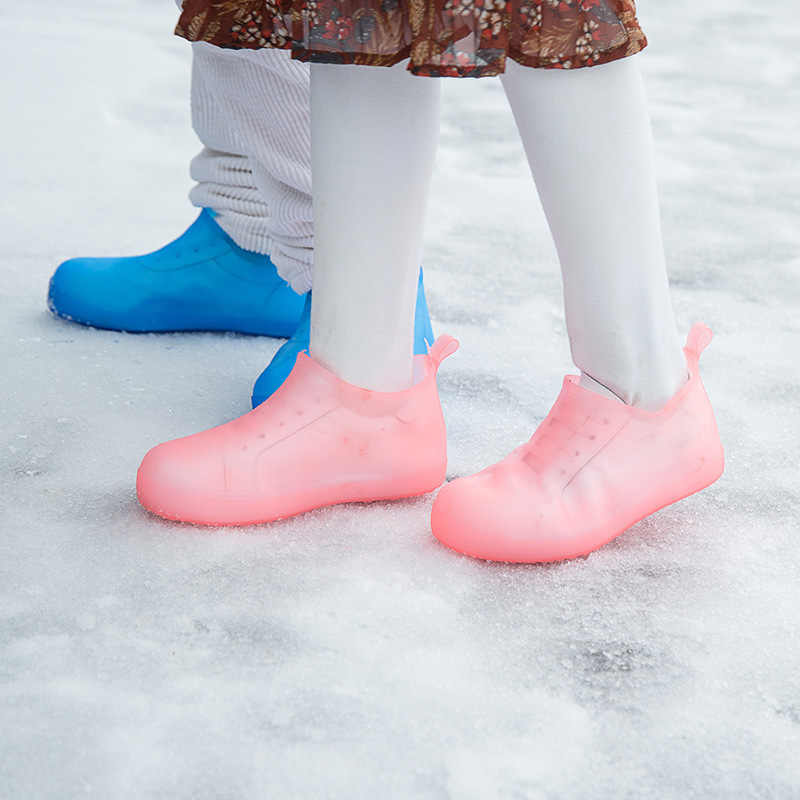 Kapakları Kauçuk kaymaz yağmur botu Galoş Su Geçirmez Yeniden Kullanılabilir yağmur ayakkabıları Erkek ve Kadın Ayakkabı Aksesuarları