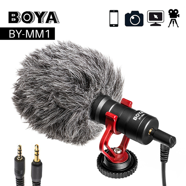 $ US $32.95 BOYA BY-MM1 Video Record Microphone for DSLR Camera Smartphone Osmo Pocket Youtube Vlogging Mic for iPhone Android DSLR Gimbal