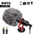 BOYA BY-MM1 Video Rekord Mikrofon Für DSLR Kamera Smartphone Osmo Tasche Youtube Vlogging Mic Für IPhone Android DSLR Gimbal