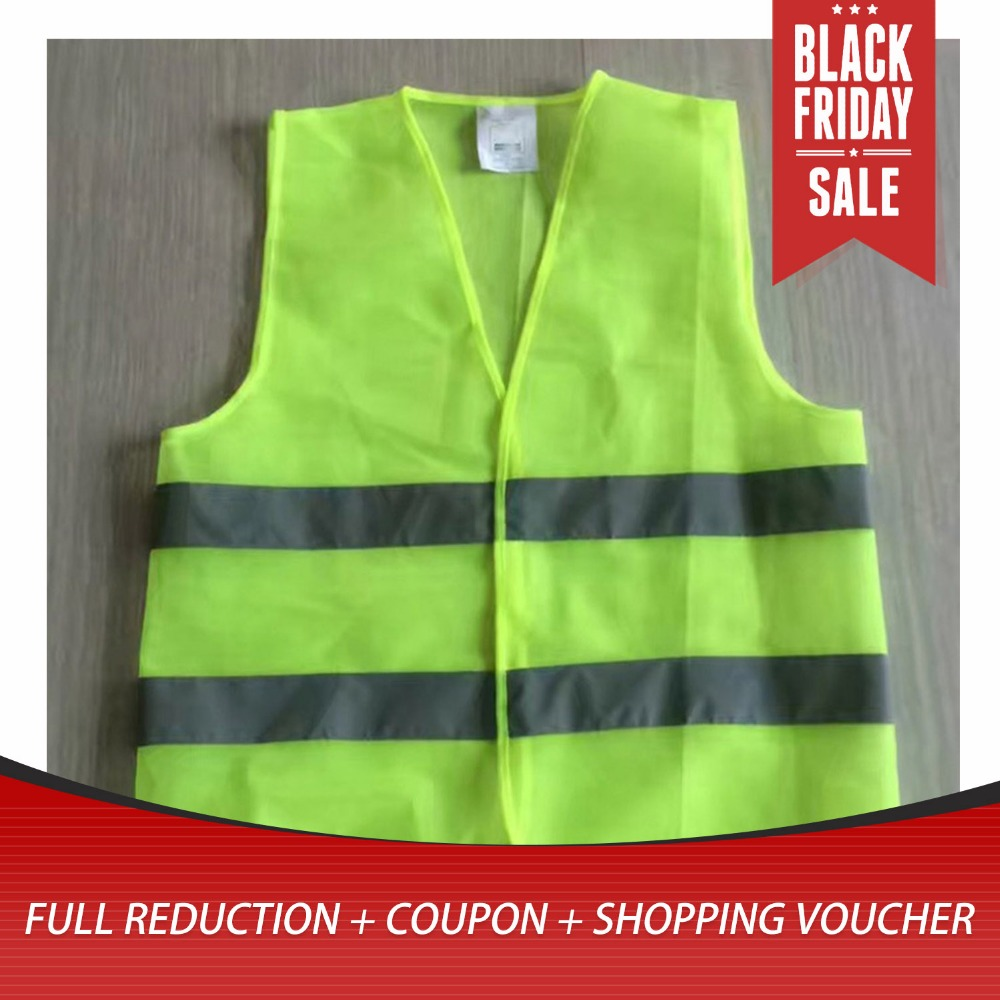 High Visibility Reflective Fluorescent Vest Outdoor Safety Ventilate Vest Lucifer Yellow
