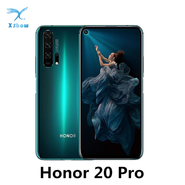 Global Rom Honor 20 Pro Kirin 980 Android 9 6.26Inch Ips 2340X1080 8Gb Ram 128Gb Rom Nfc 48.0MP + 32.0MP Vingerafdruk Mobiele Telefoon