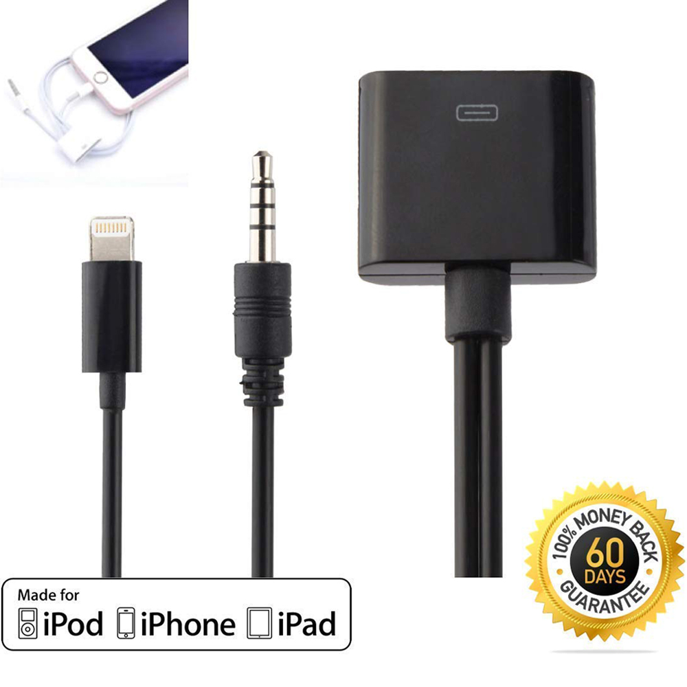 30 Pin Dock Connector Male To AUX 3.5mm 8 Pin Lightning Female Jack Car Stereo Line Out Audio Cable For Apple IPod IPhone IPad