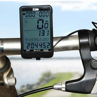 Durable SD 577C Waterproof LCD Display Cycling Bike Bicycle Computer Odometer Speedometer With Green Backlight