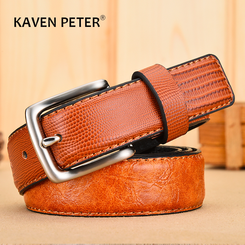 Casual Male Leather Belt High Quality Waistband Strap Fashion Leather Belts For Men Pin Buckle