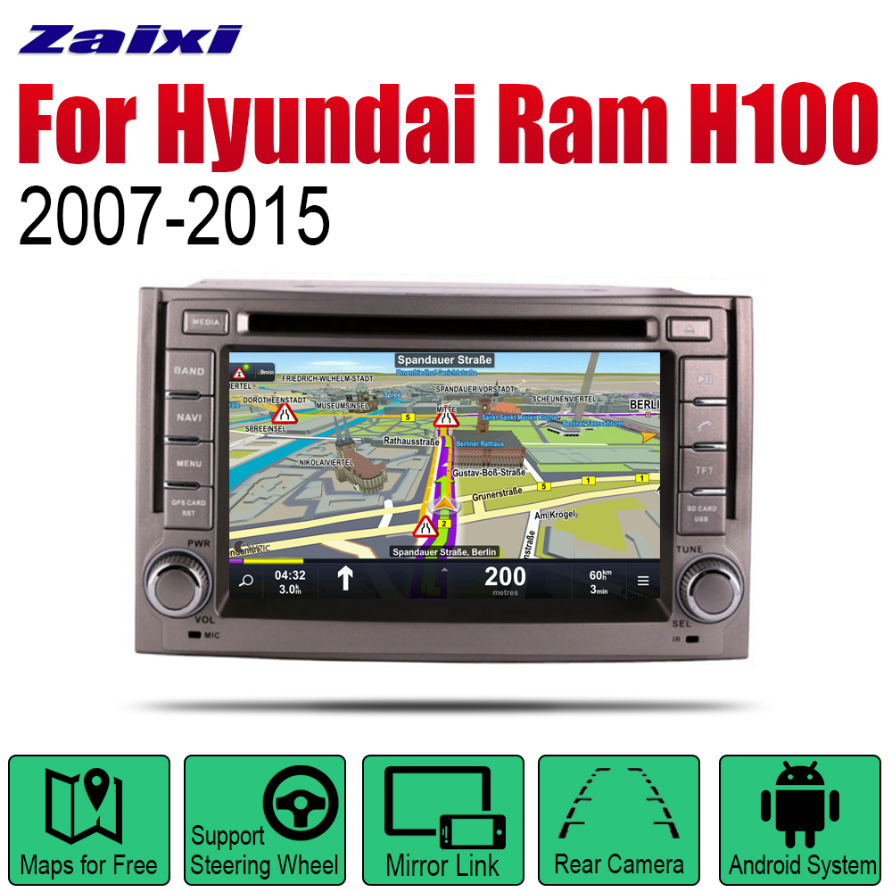 ZaiXi Android Car Radio Stereo DVD <font><b>GPS</b></font> Navigation For Hyundai Ram H100 2007~2015 Bt wifi <font><b>2din</b></font> Car Radio Stereo Multimedia Player image