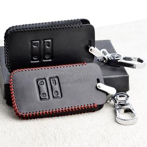 Image 1 - Para renault dacia duster 2020 botões chaves inteligentes couro genuíno carro de controle remoto chaveiro capa caso acessórios