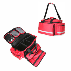 Large Size Empty First Aid Kit Nurse Physician Emergency Medical Cross Messenger Bag Nylon Waterproof with Shoulder Strap
