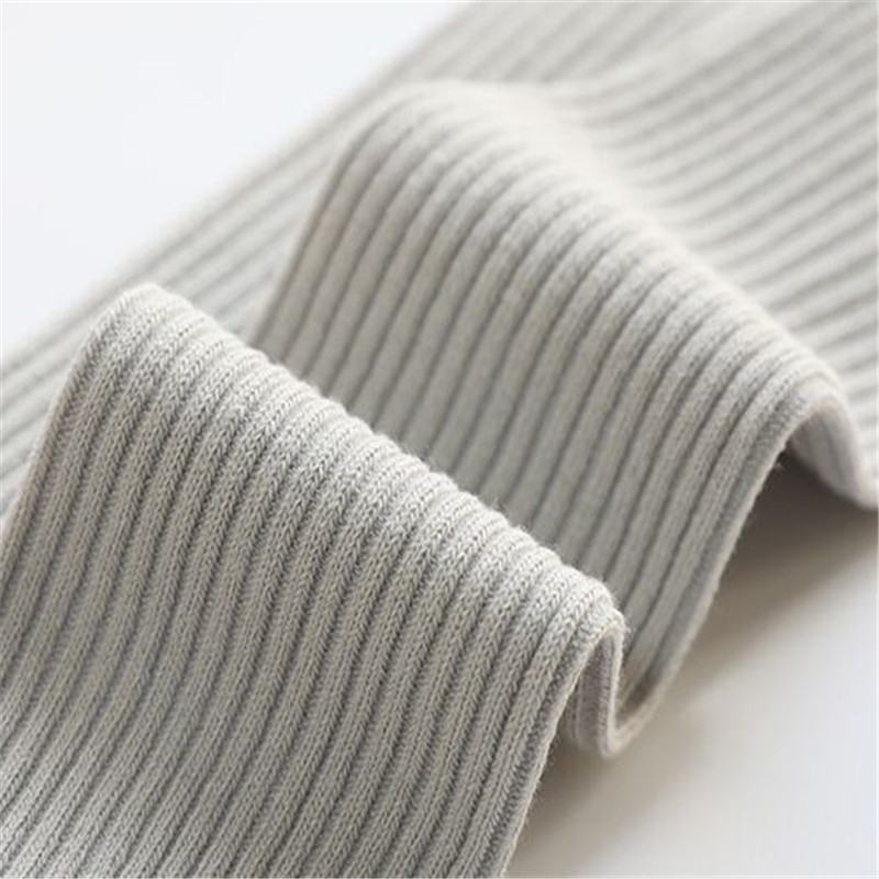 Candy Colors Children Socks Girls Boys Solid Striped Long Socks Spring Autumn Kids Clothes Accessories Length 33cm 5