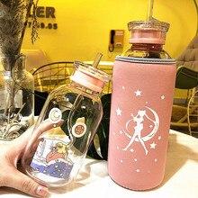 Креативный милый мультфильм Сейлор Мун крышка чашки льняные хлопковые термоизолирующие стеклянные рукав для чашки переносная веревка защитная крышка бутылки