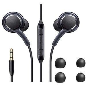 Стереогарнитура с микрофоном 3,5 мм для Samsung Galaxy S10 S9 S8 Plus S7 S6 Edge Note 9 8 7, наушники без рук, басовые наушники