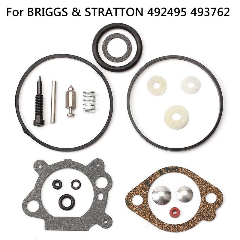 19pcs Carburetor Carb Rebuild Repair Kit For BRIGGS & STRATTON 492495 493762 Quantum Replaces Part 492495, 493762, 498260