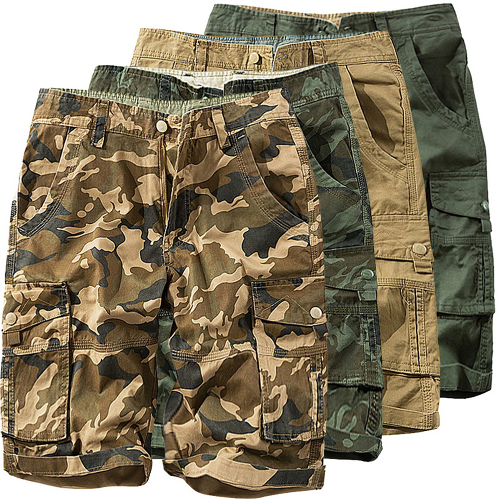 Military Shorts Cargo Hip-Hop Running Plus-Size Camouflage Casual Male Loose Men