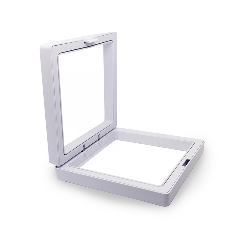 Lateefah Black Transparent Suspension Display Cases 3D Albums Floating Frame Show Case Jewelry Box Necklace Storage Holder Gift