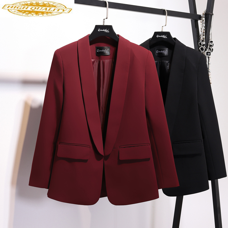 2019 Black Blazer Women Spring Autumn Coat Female Suit Office Jacket Women Blazers And Jackets Marynarka Damska KJ1723