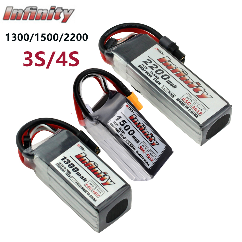 Infinity <font><b>3S</b></font> 4S LiPo Battery 2200mah <font><b>1500mAh</b></font> 45C 95C SY60/XT60 Connector Graphene for RC Quadcopter Drone Rechargeable Battery image
