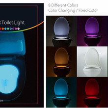 Toilet-Light Led-Lamp Jiguoor-Sensor Activated Human Automatic Motion 8-Colours RGB PIR