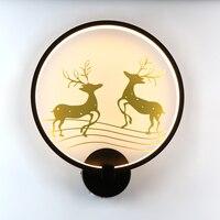 18W LED Wand Lampe Schlafzimmer Nacht Wand Licht Indoor Treppen Korridor Beleuchtung Dekoration Deer Vogel Lampe Aluminium + Eisen AC90 260V-in LED-Innenwandleuchten aus Licht & Beleuchtung bei