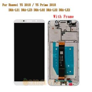 """Image 4 - 5.45 """"pour Huawei Y5 Prime 2018 DRA LX2 plein écran LCD écran tactile capteur cadre en verre pour Y5 2018 DRA L21 DRA L01 écran LCD"""