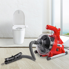 Drain-Cleaner Dredging-Machine Toilet Electric-Sewer-Pipe Kitchen Autofeed 120W 19-28MM