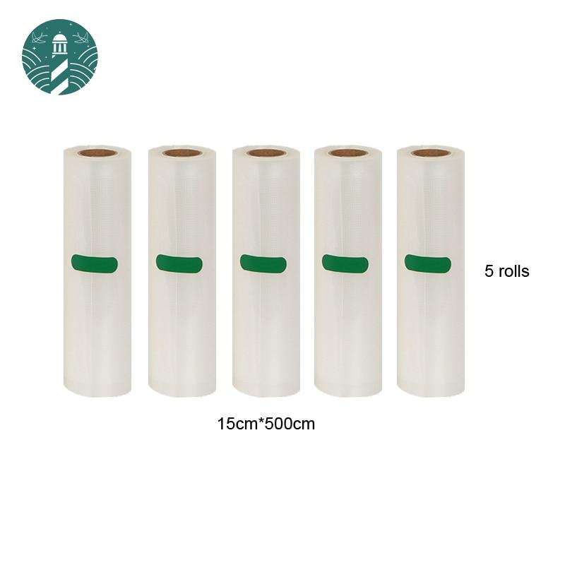 5 Rolls/Lot  Acuum Seal Bags For Vacuum Sealer Machine Packing Container Food Bag Storage 15cm*500cm