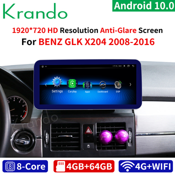 Krando Android 10.0 8Core 4+64G Car dvd radio audio GPS Navigation for Mercedes Benz GLK Class X204 2008-2016 multimedia Player image