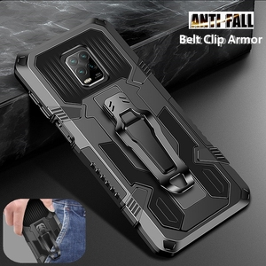 Heavy Duty Protection Case For Xiaomi Redmi 9A 9C Note 9 Pro 8 7 5 6 9S 7A 10 8A Armor Kicstand Shockproof Back Clip Case Cover