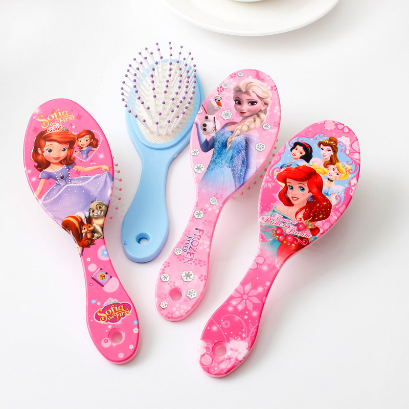 Beauty Fashion Toys Cartoon Frozen Child Air Cushion Comb Toys Curly Hair Brush Combs Gentle Anti-static Brush Tangle Bristles