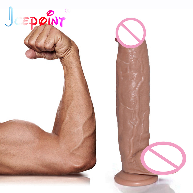 ICEPOINT 30*5.8cm Giant Flesh Dildo Thick Huge Dildo Extreme Big Realistic Dildo Suction Cup Sex Product for Women Candy Colors