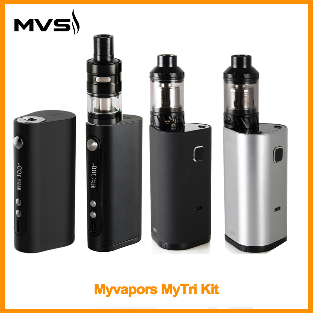 [RU Warehouse] Original MyVapors MyTri Kit Or Wismec Vaporflask Mod 100W VW/TC/TCR Mode Vape Kit VS Myjet Kit E-Cig