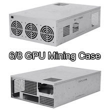6/8 GPU Graphics Card Mining Server Case Frame 6 Fan Position Miner Mining Server Rack Case Frame Rig For Coin BTC Ethereum(China)