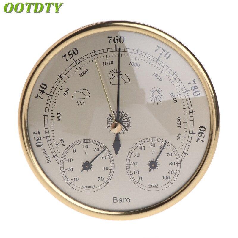 OOTDTY настенный бытовой Барометр термометр гигрометр Метеостанция висячая