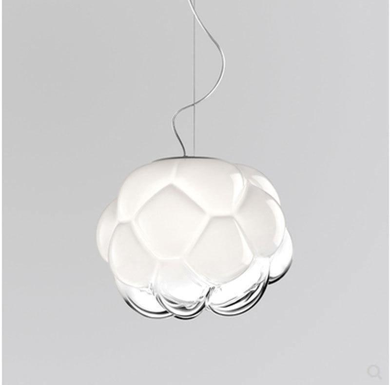 light luxury glass dome chandelier in northern Europe restaurant chandelier simple postmodern living room bedroom lamp