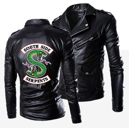 New Autumn Men's PU Leather Riverdale Southside Serpents Jacket For Men Fitness Fashion Male Suede Jacket Casual Coat