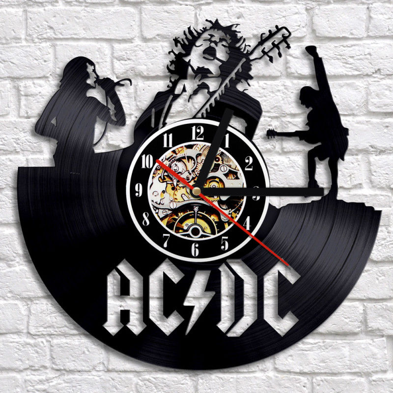 Rock Band CD Wall Clock Modern Design Music Lover Classic CD Watch 3D Decorative Retro Style Vinyl Record Wall Clocks Home Decor