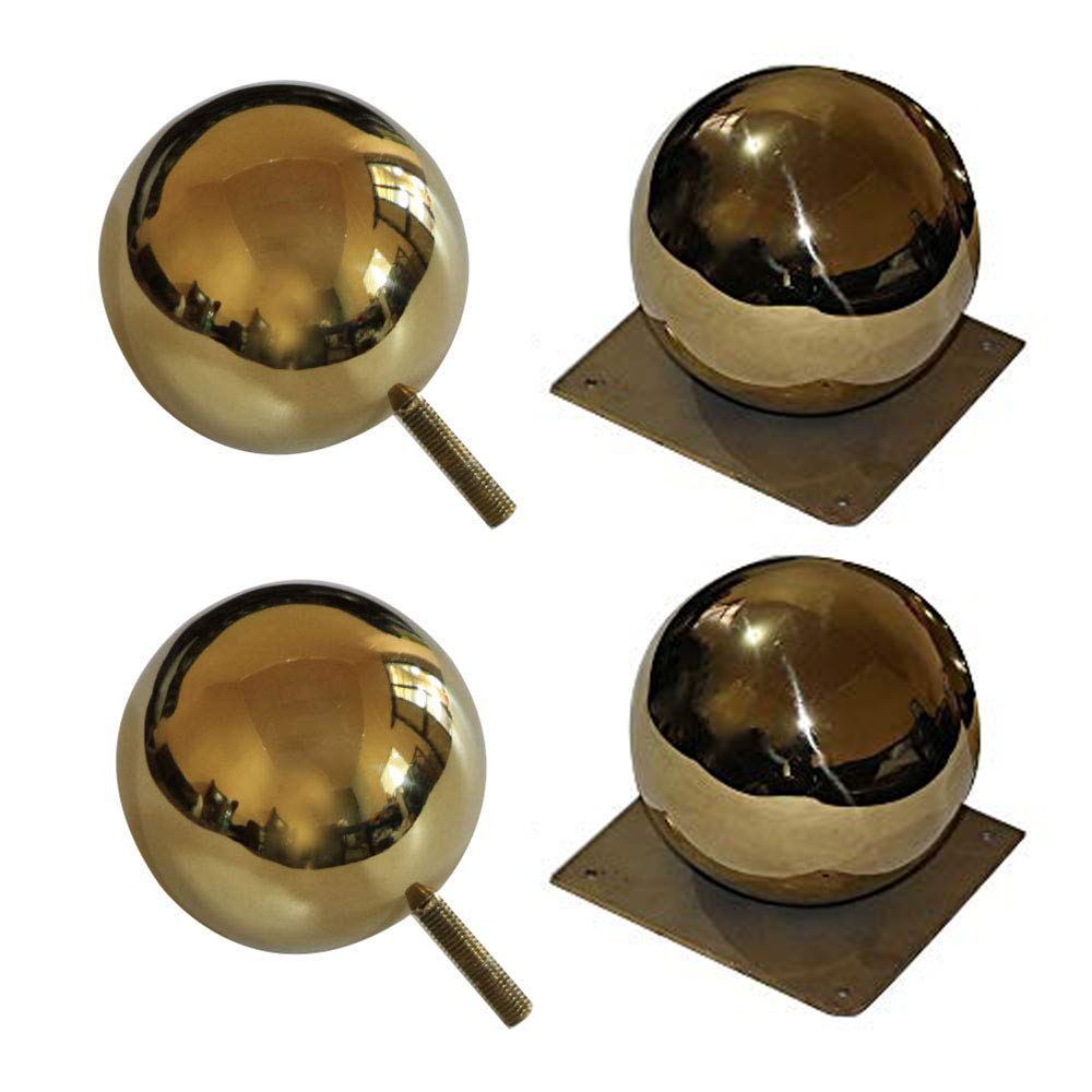 Metal Sofa Legs, Gold Stainless Steel Coffee Table Bathroom Cabinet Foot Height 12cm Hollow Spherical Furniture 4 Pieces