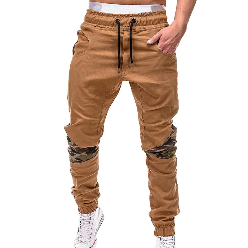 Thin Autumn Men Camouflage Casual Streetwear Pants Patchwork Sweatpants Male Cargo Pants With Pockets Sportwear Mens Joggers