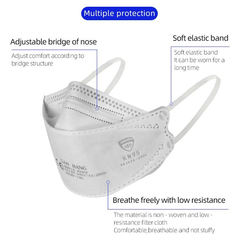 Snelle Levering Hot Koop 6-Layer Masker 1 50 Pcs Gezicht Mond Maskers Non-woven Wegwerp Anti-Dust Meltblown Doek Maskers