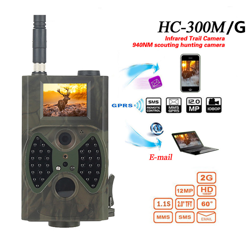 HC300M HC300A Hunting Camera HD Digital IR Infrared Trail Camera Chasse Camera Scouting Night Video GPRS GSM 12MP Hunting Camera