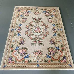 Flower Carpet Study-Rug Coffee-Table Bedroom Floor-Mat Living-Room Thick European Modern