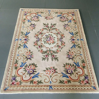 Modern Flower Carpet Living Room Home Office Rug Thick 100% Wool Bedroom Carpet Sofa Coffee Table Floor Mat European Study Rug