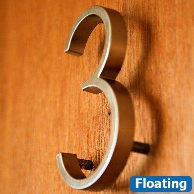 No 274 Building 10cm SCREW on House Door Stainless Steel House Numbers